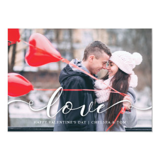 Valentine's Day PhotoCard - Red Love Card