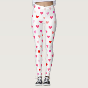 Women S Valentines Day Leggings Tights Zazzle Uk