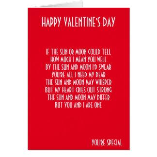 VALENTINE'S DAY POEM GREETING CARD