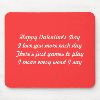 Valentine's day poem mousepads