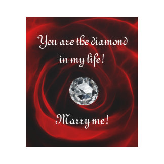 Valentines day proposal stretched canvas prints