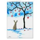 Valentine's Day Rabbit & Hearts by Bihrle Card