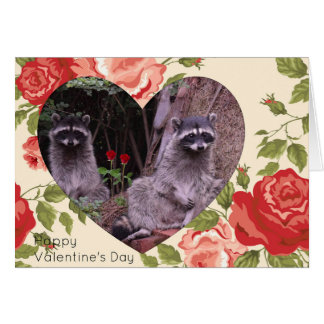 Valentine's Day - Raccoons Card