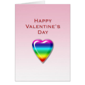 Valentines Day Rainbow Heart Card