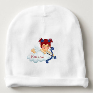 Valentine's Day Red-Headed Love Angel Personalized Baby Beanie