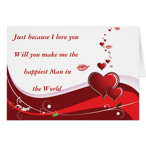 Valentines Day Red Heart Card