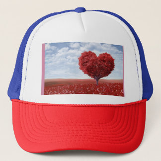 Valentine's Day Red Heart Shaped Tree Cap