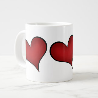 Valentine's Day red hearts Giant Coffee Mug
