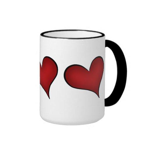 Valentine's Day red hearts Coffee Mug