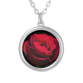 Valentines Day Red Rose Pendant