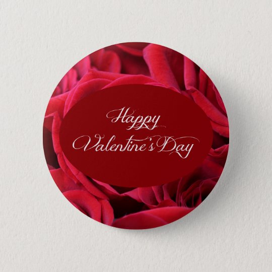 Valentine's Day Red Roses 6 Cm Round Badge