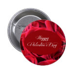 Valentine's Day Red Roses Button