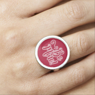 Valentine's Day Ring Be Mine Scrolling Heart