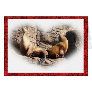 Valentine's day_ Sea lion Card