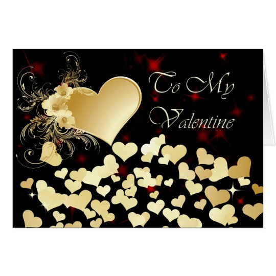 Valentine's Day Shower of Hearts Card