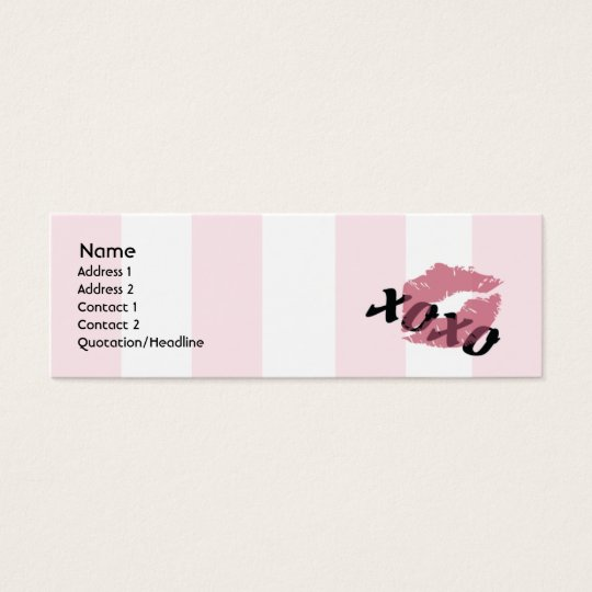 Valentine's Day - Skinny Mini Business Card