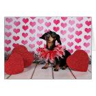 Valentine's Day - Sophia - Dachshund Card