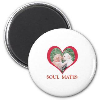 Valentine's Day Soul Mates Shirts, Cards, Mugs 6 Cm Round Magnet