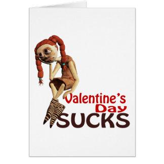 valentines day sucks sad girl card