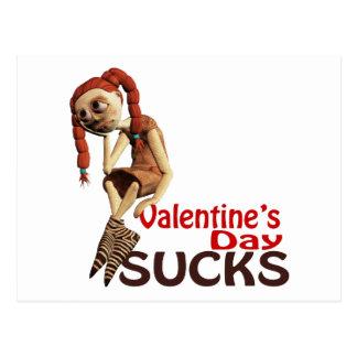 valentines day sucks sad girl post card