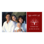 Valentine's Day - Sweethearts Tree Personalised Photo Card