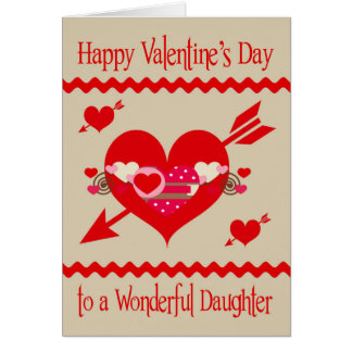 Valentine's Day To Daughter Card