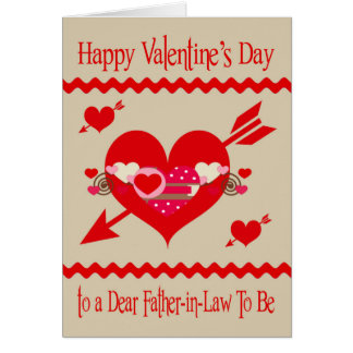 Valentine's Day To Father-in-Law To Be Greeting Card