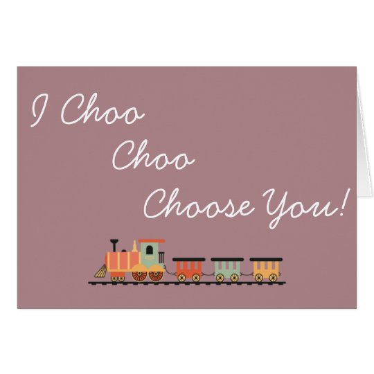 Valentines Day Train Card