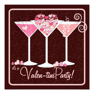 Valentines Day Valentini Martini Party Invitation