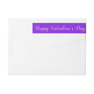 Valentine's Day violet minimalist Wrap Around Label
