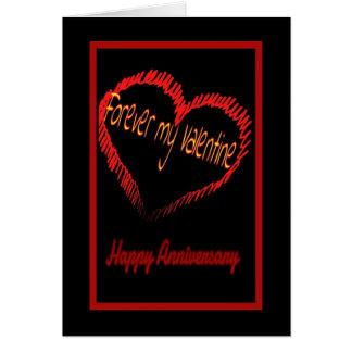 Valentine's Day wedding anniversary Greeting Cards