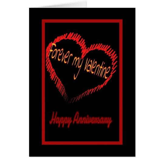 Valentine's Day wedding anniversary Card