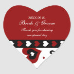 Valentine's Day Wedding Favour Tags Red Hearts Heart Sticker