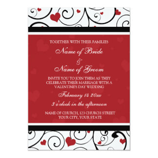 "Valentine's Day Wedding Invitation Cards 5"" X 7"" Invitation Card"
