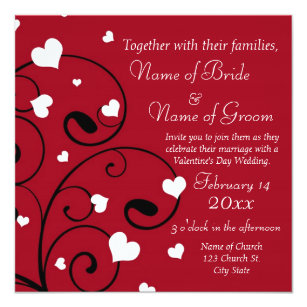 Valentines Day Wedding Invitations Zazzle Co Uk