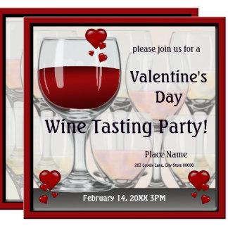 Valentine's Day Wine Tasting Party Invitation