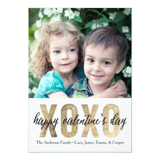 Valentine's Day XOXO Gold Card