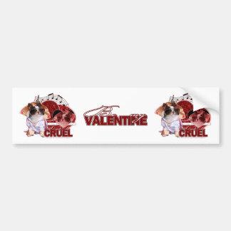 Valentines - Dont Be Cruel - Chihuahua - Gizmo Car Bumper Sticker