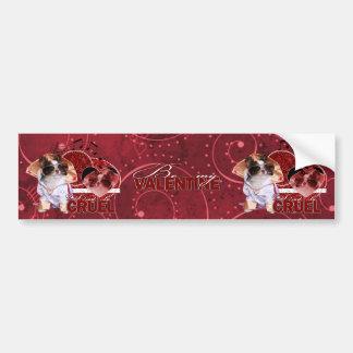 Valentines - Dont Be Cruel - Chihuahua - Gizmo Bumper Sticker