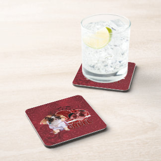 Valentines - Dont Be Cruel - Chihuahua - Gizmo Beverage Coasters