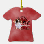Valentines - Dont Be Cruel - Chihuahua - Gizmo Christmas Ornament