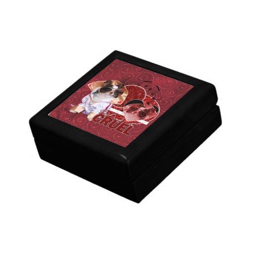 Valentines - Dont Be Cruel - Chihuahua - Gizmo Small Square Gift Box