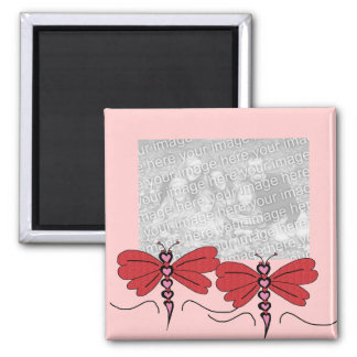 Valentines Dragonfly template magnet