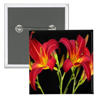Valentine's Exotic Flower Romance Sensual Gifts 15 Cm Square Badge