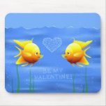 Valentine's Fishes Mouse Pad