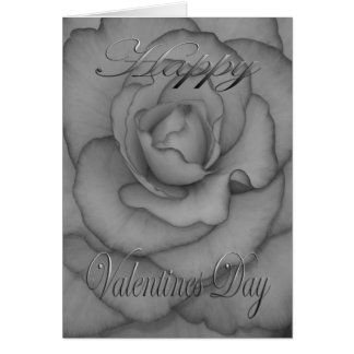 Valentines Flower black and white Card