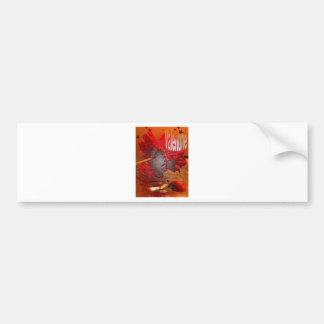 Valentine's flower bumper sticker