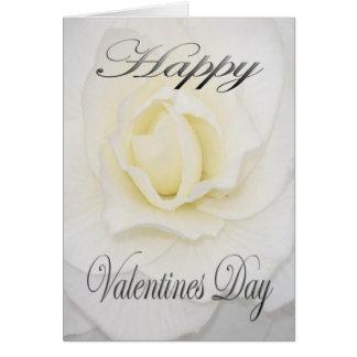 Valentines Flower in White Card