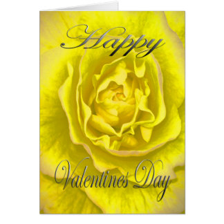 Valentines Flower in Yellow and Pink Card