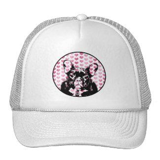 Valentines - french Bulldog Silhouette Hat